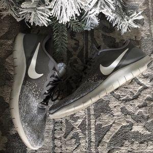 Nike running training grey sneakers